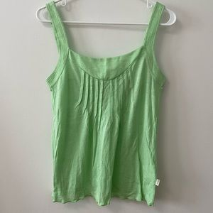 WESC GREEN LACE UP BACK TANK TOP